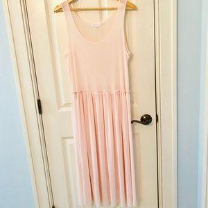 Socialite sheer pink Dress Overlay